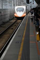High Speed Rail, Taiwan (Ian@NZFlickr) Tags: train taiwan hsinchu shelter safety