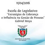 Palestra da Escola do Legislativo - Estratégias de Liderança e Influência na Gestão de Pessoas - com Gabriel Moya 11/04/2018