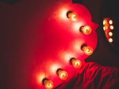 art installation (Web-Betty) Tags: art lightbulbs barebulbs pink light