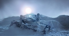 Buried Treasure (CozzD) Tags: hoth lego snowtrooper imperial empire strikes back airspeeder snowspeeder t47 echo base star wars mini figure invasion