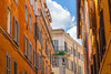 i love you rome (nzfisher) Tags: rome roma italy buildings architecture colour color colourful colorful landscape cityscape apartments street lane laneway travel holiday 85mm canon blue orange yellow