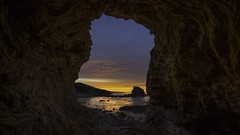 Morning Light From The Cave (WJMcIntosh) Tags: coronadelmar sunrise cave