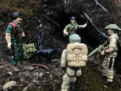 Tunnel Rat doing what he does. (chevy2who) Tags: american hero arealamerican junkyard mutt recondo rat tunnel toyphotography toy figures action gijoe joe gi arah