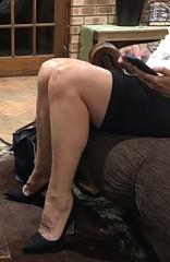MyLeggyLady (MyLeggyLady) Tags: sex hotwife miniskirt milf sexy secretary teasing pumps stiletto thighs legs heels