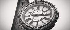 Fifth Avenue Building Clock (dansshots) Tags: fifthavenuebuilding clock 23rdstreet flatiron flatironbuilding monochrome cropped dansshots nikon nikond750