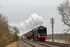 70013 at Swithland (FlyingScotsman4472) Tags: br b ritannia 70013 oliver cromwell swithland viaduct great central railway gcr easter holiday 28th march 2018