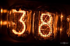 Macro Mondays - Back In The Day (Michał Banach) Tags: backintheday canonef100mmf28lmacroisusm canoneos5dmarkiv in12b macromondays nixietube cathode cathodes clock coldcathode digital display electronics glasstube lamp lamps light macro nixie nixielamp old orange vintage