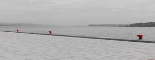 Bornes rouges, Fleuve Saint-Laurent, Québec, Canada - 7204