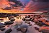 Lasting Light (Darkelf Photography) Tags: binalong bay bayoffires tasmania australia seascape landscape travel coast shore clouds rocks lichen reflections dusk evening sunset nisi canon 1635mm 5div maciek gornisiewicz darkelf photography lastinglight 2018