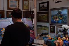 Creating His Masterpiece #fujifilm #x100f #fujilove #fujifilmru #artist #workshop #creativity #excebition #chlassicchrome #incamerajpeg (N.A. Dikin) Tags: fujifilm x100f fujilove fujifilmru artist workshop creativity excebition chlassicchrome incamerajpeg