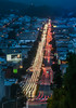 saturday blue hour over lombard (pbo31) Tags: sanfrancisco california nikon d810 color evening april spring 2018 boury pbo31 lightstream motion traffic roadway infinity russianhill over view marinadistrict bluehour blue night dark sunset