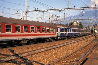 Schwyz Re6/6 11685 northbound 17th Aug 88 C11348