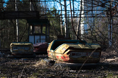 Abandoned Dodgems, Pripyat, Ukraine (KSAG Photography) Tags: dogems fair fairground abandoned ghosttown pripyat ukraine chernobyl city urban urbandecay nikon wideangle april 2018 travel history sovietunion europe hdr