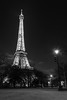 Night tower (waarondaniel) Tags: eiffel paris blackandwhite bw long exposure nightlight