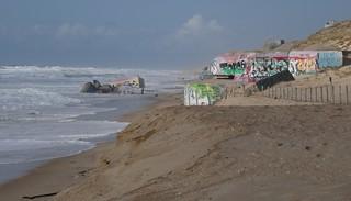 Au carnaval des blockhaus, plage de l'Horizon, Cap-Ferret, bassin d'Arcachon, Gironde, Aquitaine, France.