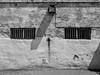 Fremantle Prison (Peter.Bartlett) Tags: vsco lunaphoto noiretblanc wall monochrome urbanarte m43 microfourthirds peterbartlett facade olympuspenf agfascala200emulation blackandwhite australia bw fremantle westernaustralia au