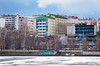 Spring in my Hometown (@Tuomo) Tags: finlad nordic jyväskylä city urban houses lake frozen ice spring april landscape cityscape olympus m43 micro43 em1mk2 zuiko 12100mm