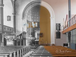 evang. Kirche Peitz, Innenraum um 1940 und 2018