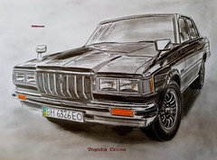Toyota Crown (paul7310) Tags: toyota crown draw drawing авто рисунок