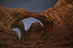 Sight Of The Stars (karenhunnicutt) Tags: doublearch archesnationalpark moabutah night stars astrophotography utah travel roadtrip karenhunnicuttphotographycom
