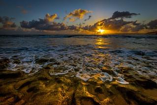 Gorgeous Haena Beach Sunrise in Kauai, Hawaii