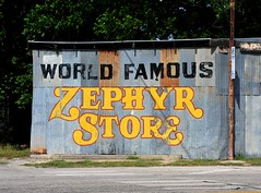World Famous Zephyr Store - Zephyr,Texas (Rob Sneed) Tags: us84 usa texas zephyr smalltown unincorporatedcommunity centraltexas zephyrstore worldfamous abandoned business texana americana handpainted metalbuilding rust decay wallsign ghostsign roadtrip rural advertising countrystore