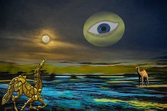 Eye in the Sky (Rusty Russ) Tags: eye sky moon sun creature earth visual meaning colorful day digital graffiti window flickr country bright happy colour eos scenic america world sunset beach water red nature blue white tree green art light cloud park landscape summer city yellow people old new photoshop google bing yahoo stumbleupon getty national geographic creative composite manipulation hue pinterest blog twitter comons wiki pixel artistic topaz filter on1 tinder