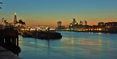 London - Magic blue hour (Happy! - Andrea) Tags: london skyline bluehour nightview magic towerbridge riverthames thames great britain themse