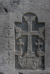 Monastère d'Haghpat, Arménie (Pascale Jaquet & Olivier Noaillon) Tags: sculpture façade religionchristianisme église architecturechrétienne khachkar basrelief monastère hagpat provindedelori arménie arm