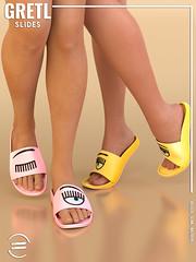 EQUAL - Gretl Slides (EQUAL SL) Tags: secondlife shoes slink belleza maitreya fameshed