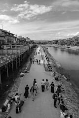 Kamogawa (Hideki Iba) Tags: river street people kyoto japan nikon d850 2470 nikond850 landscape blackandwhite whiteandblack bw 白黒 黑白 monochrome building
