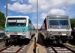 P1610365 (Lumixfan68) Tags: eisenbahn züge triebwagen baureihe 628 dieseltriebwagen syltshuttle plus db deutsche bahn museum hel historische lübeck