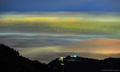 薄霧朦朧 (蕭世榮) Tags: 南投縣 大崙山 茶園 銀杏森林 雲海 霧 夜景 fog landscape night