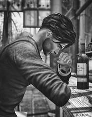 Damn your eyes (Jos Loll) Tags: thinking bar fist wine