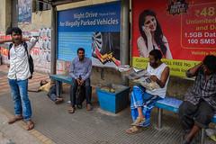 Bus stop (SaumalyaGhosh.com) Tags: people color india kolkata street streetphotography life indifference