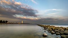 Lighthouse illumination (Rob Schop) Tags: f11 wideangle goldenhour nd64 zonsondergang sunset hellevoetsluis sonya6000 pola samyang12mmf20 nederland vuurtoren a6000 lighthouse hoyaprofilters outdoor
