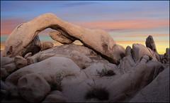 Arch Rock (jeanny mueller) Tags: usa southwest california kalifornien joshuatreenationalpark desert landscape sunset archrock rock stone arch