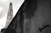 Signé (Atreides59) Tags: urban urbain street vienne ciel sky nuages clouds monument obelisque graf graff graffiti black white bw blackandwhite noir blanc nb noiretblanc pentax k30 k 30 pentaxart atreides atreides59 cedriclafrance
