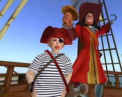 YO HO HO HO (cadeSL) Tags: pirate yo ho captain hook sl secondlife second life virtual world adventure playing pretending