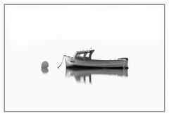 Donna (Thunder1203) Tags: boats fishing seascape tenbypoint westernportbay anchored calm lowtide moored stillwater tranquil blackandwhite monochromw highkey minimalism stark contrast unlimitedphotos yabbadabbadoo
