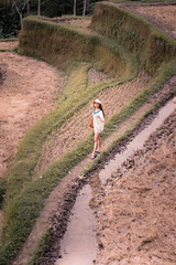 A visit to the Rice Terraces (SemiXposed) Tags: rice terrace ubud bali indonesia asian girl hat outtdoors water