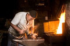 Blacksmith - Cairo, Egypt (pas le matin) Tags: cairo lecaire egypt égypte afrique africa travel voyage world street candid man work worker travail ouvrier blacksmith forgeron fire feu metal heat chaleur homme portrait canon 7d canon7d canoneos7d eos7d