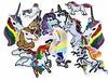 17er Patch Bombe EINHORN, Mix Aufnäher zum Bügeln (patchmonkeys) Tags: bügelbild mix mischung einhorn applikation aufbügler aufnäher pferd bügelbilder patches gestickt pferde auswahl