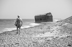 Beach (AstridWestvang) Tags: beach bunker coast denmark lildstrand people sea ww2