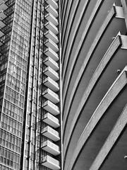 Intersection (duaneschermerhorn) Tags: toronto ontario canada city urban downtown architecture building skyscraper structure highrise architect modern contemporary modernarchitecture contemporaryarchitecture black white blackandwhite blackwhite bw noire noir blanc blanco schwartz weiss abstract abstractarchitecture abstraction