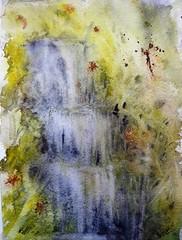 Cascada imaginada (benilder) Tags: cascada cascade waterfall nature naturaleza acuarela aquarelle watercolor watercolour benilde