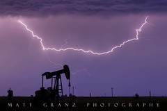 A Midwest Storm (Matt Granz Photography) Tags: lightning lightening storm clouds sky oilderrick night severeweather weather midwest centralplains plains bolt forks nikon d70 mattgranz