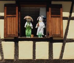 Happy Easter (madbesl) Tags: ostern froheostern easter happyeaster elsass elsas alsace frankreich france europa europe fenster window fachwerk olympus omd em10 omdem10 m10 zuiko1250 riquewihr