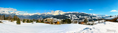 Mont Blanc Panorama (mg photographe) Tags: megève montblanc explore snow neige montagne mountain france alpes chamonix combloux paysage landscape