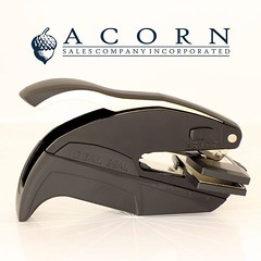 Are you looking for a #gift that is unique and useful? Our gift #embossers combine a personalized #monogram with an address and 3 lines of customized text of your choice. Each die plate is precisely laser engraved to provide a crisp impression on paper, n (acorn_s79) Tags: acorn richmond rva sales company inc